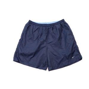 Vintage 90s Nike Mini Swoosh Hiking Shorts Blue